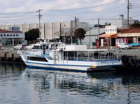 640pc280292 西伊豆航路 : 沼津港-大瀬崎-井田港-戸田港-土肥港-八木沢港   .
